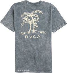 Palm tree graphic tee. http://www.swell.com/Mens-October-Catalog/RVCA-PALM-TREES-SS-TEE-1?cs=BU