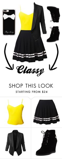 """""""Classy"""" by haikyuu-10 on Polyvore featuring Versus, Jupe de Abby, MICHAEL Michael Kors and Casetify"""