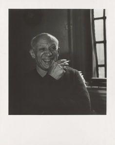 Pablo Picasso im Jahr 1955. Er gilt als das große Genie des 20. Jahrhunderts,...