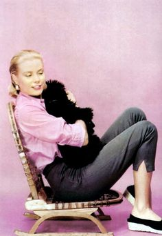 Grace Kelly and her dog, Oliver