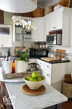 Kitchen decor...A simple life. The Oliver and Rust House Tour 2014