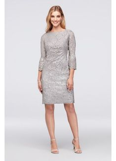 c517c601dc5 Short Sheath 3 4 Sleeves Cocktail and Party Dress - Jessica Howard Winter  Dresses