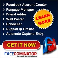 FaceDominator is one of the Facebook management software, may be the best available in the market. FaceDominator is a software that is compatible with Windows XP, Windows Vista and Windows 7.