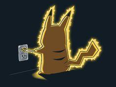 Glow in the dark recharging shirt