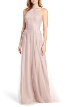 Monique Lhuillier Bridesmaids Tulle Halter Style Gown available at #Nordstrom