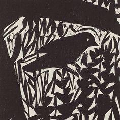"Woodland Bird, 6"" x 6"" woodcut by Kent Ambler"