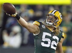 Green Bay Packers outside linebacker Clay Matthews (52) celebrates after recovering a fumble during the second half of an NFL wild card playoff football game against the Minnesota Vikings Saturday, Jan. 5, 2013, in Green Bay, Wis. (AP Photo/Mike Roemer)