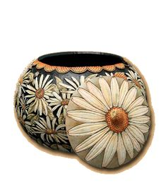 Carved and painted gourds by Marilyn Sunderland