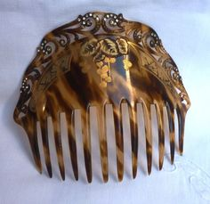 GRAND PEIGNE ANCIEN DIADEME ART NOUVEAU ART DECO STRASS VINTAGE HAIR CUMB | eBay