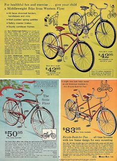 western flyer bikes  1969/70 fall and winter western auto catalog