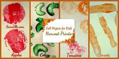 Fall Projects for Kids | Make a Fall Book | Harvest Prints- Sara Ella