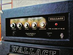 """WALLACE AC5000 X.T. MKII """"VOX-EY"""" EF86 BOOST+ KT66 (est 1938) THINK KINKS! Ted Wallace was a true pioneer & well ahead of the pack.. Hand built, reliable & loud made WALLACE amps a Fave of RAY DAVIES & many session men like JOHN PAUL JONES, JIMMY PAGE & MANFRED MANN before Clean-Bright tone was out of fashion.. Instead of following trends or marketing.. WALLACE focused on high powered amplifiers.. even w/big '70s bands touring w/his PA & Bass rigs + 40 yrs of production is kinda unknown."""