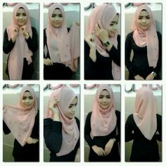 Sick of your old hijab style? Try something new and different with these 10 new hijab tutorials! Square Hijab Tutorial, Simple Hijab Tutorial, Hijab Simple, Hijab Style Tutorial, New Hijab, Hijab Musulman, Muslim Hijab, Hijab Chic, Turban Hijab