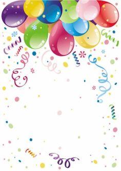 Drodher,  Fondo Feliz cumpleaños con globos de colores,  Rellena con Foto/dedicatoria.