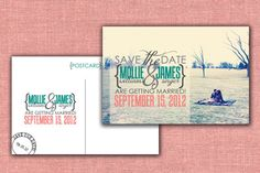 Modern yet vintage printable Save the Date Chic by WDesignGallery, $40.00