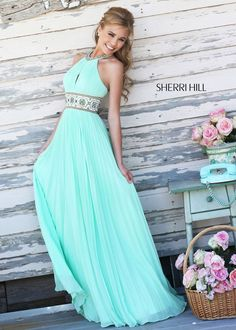 Sherri Hill 11251 Beaded Halter Gown