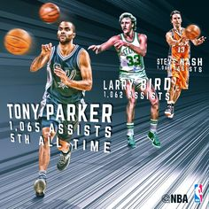 Tony Parker passed Steve Nash + Larry Bird for 5th place in total assists  in NBA a5bfc95c5