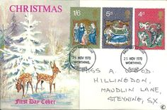 1970 GB - Connisseur FDC Christmas Stamps - Worthing Sussex Cancel