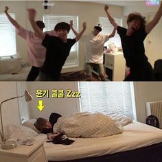 BTS| Sleeping through anything! So Yoongi here // How can he sleep with the chaos next door?