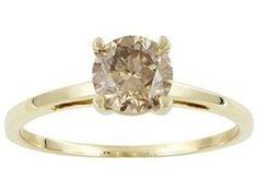 #jewelry #Fashionnews #Womensfashion #Womensstyle #Fashion #Unitedstate #USA Woman 10K Yellow Gold 1.50 Carat Round Champagne