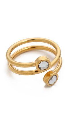 wrap around stone ring / jules smith