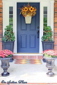 5 Fall Wreaths. Fall Front DoorsBlue ...