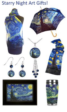 Discover our fun and artful Van Gogh Starry Night Gifts! Gifts For Art  Lovers a2666f1a401b