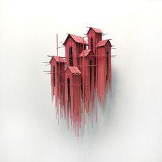 Steel Wire Sculptures by David Moreno