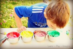 Homemade Paint Recipe {Apple Scented Fall Quick Paints} ~ Learn Play Imagine