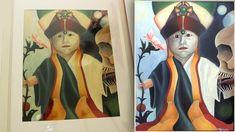 Baby Buddha, The Pa, Using Acrylic Paint, Arts And Crafts, Painting, Painting Art, Paintings, Art And Craft, Painted Canvas