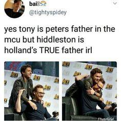 Tom Holland y Hiddleston - Funny Marvel Memes, Dc Memes, Avengers Memes, Marvel Jokes, Loki Funny, Avengers Imagines, Marvel Actors, Marvel Characters, Marvel Avengers