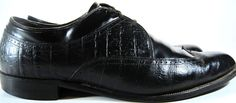 Stacy Adams Men Wing Tip Shoes size 12 D Black Cordorvan Alligator. KAK 16 #StacyAdams #WingTip