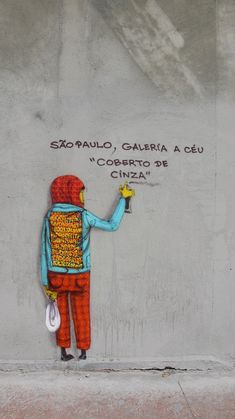 Sao Paulo, Brazil: See this street art by Os Gemeos in Sao Paulo (Photo via Os…