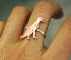 T-Rex Ring by I Adorn U My one true love will propose to me with a ring similar to this...