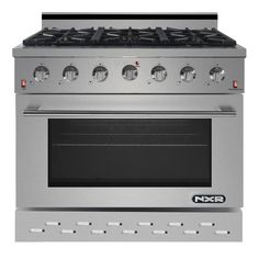 Professional Style Gas Range with Convection Oven, Stainless Steel Verona, 36 Gas Range, Ranger, Dual Oven, Glass And Aluminium, Large Oven, Single Oven, Adjustable Legs, Kitchen And Bath