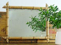 Miroir en Bois Tourné Façon Bambou  Miroir Art par LArriereBoutique