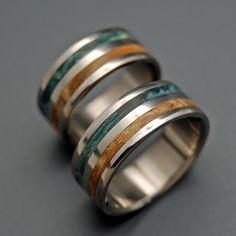 Minter + Richter | Titanium Rings - Wooden Wedding Rings | Titanium Rings | Minter + Richter