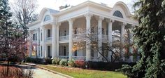 classic house design with pillars inspired by greek - Google Search
