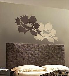 Large Flower Stencil Accent Www.cuttingedgestencils.com · Stencil Wall  ArtStencils For ...