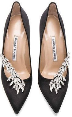 edf6ff33c53b Shop for Manolo Blahnik Satin Nadira Heels in Black at FWRD.