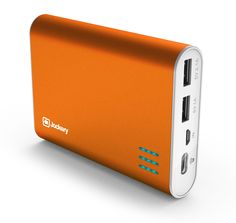 Jackery® Giant+ Premium Portable Charger Aluminum 12000mAh Power Pack and External Battery Bank with Dual USB Port for Apple iPhone 6 Plus, 6, 5S, 5C, 5, 4S, iPad, Air, Mini, Samsung Galaxy S5, S4, S3, Note, Nexus, LG, HTC. Portable Battery Charger, iPad Charger, Travel Charger, USB Battery Pack, Charging Station, Power Bank, Portable Battery (Orange)