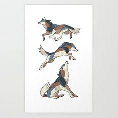 Wolf Art Print by Jemma Salume