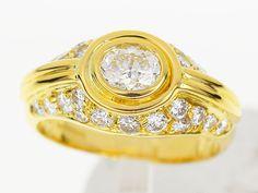 GRAFF Diamond Ring 750 K18 YG Yellow Gold Size6 28070104 #GRAFF #DiamondRing