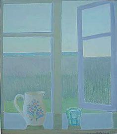 Vionoja Veikko Window View, Open Window, Window Panes, Day Lewis, Through The Window, Painting Techniques, My Room, Color Combos, Photo Art