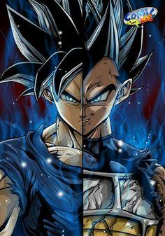 Goku and Vegeta Ultra Instinct - anime Dragon Ball Gt, Shiro Anime, Poster Superman, Super Anime, Ball Drawing, Animes Wallpapers, Son Goku, Anime Guys, Ideas