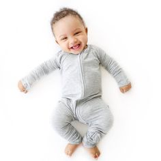 Heather Gray Baby & Toddler Bamboo Viscose Zip Romper/Sleeper – Little Sleepies Baby Co, Baby Kids, Toddler Girl, Toddler Fashion, Kids Fashion, Childhood Cancer, Baby Grows, Little Ones, Gifts For Kids