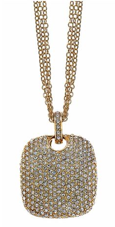 Pave necklace (gold)