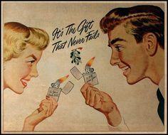 Zippo Vintage Post-war Ads