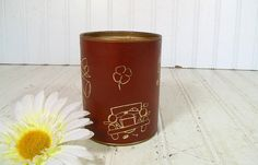 Vintage Brown Leatherette with Gold Tooling by DivineOrders, $9.00