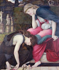 John Roddam Spencer Stanhope - Patience on a monument smiling at Grief, exhibited in 1884